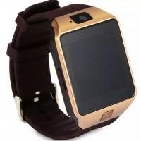 AC256. Jam Tangan Pintar / Bluetooth Smart Watches GSM SIM Card For Android Phone (Gold) DZ09