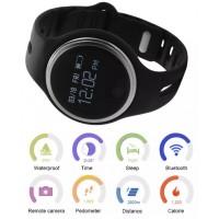 AC341. Smart Wristband E07 Waterproof Sports Fitness Tracker Bluetooth Bracelet (Black)
