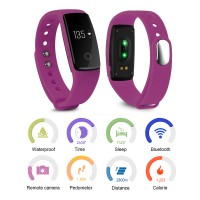 AC496. Wristband Bracelet Activity Tracker Bluetooth Pedometer Fitness - Green