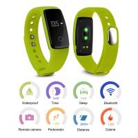 AC497. OLED Activity Tracker Wristband Bracelet Bluetooth Pedometer Fitness - Green