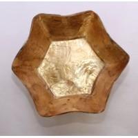B004. Shell Craft Star Bowl Mangkok Bintang Dekorasi Hiasan Pajangan Bahan Dasar Kerang - Coklat