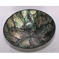 B005. Shell Craft Bowl Mangkok Bulat Dekorasi Hiasan Pajangan Bahan Dasar Kerang