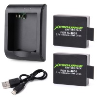 BC426. Charger + 2 Baterai, Batere, Micro USB Charger W/ 2pcs 1100mAh 3.7V Replacement Battery For SJ4000 SJ5000 Cam