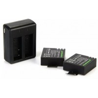 BC495. Batere, Baterai 2Pcs Original Battery 1100mAh + Charger For SJCAM SJ4000 SJ5000 Sport Action Cam