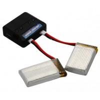 BC507. Baterai, Batere Cadangan Quadcopter 2 PCS 3.7V 650mAh Battery + USB Charger For Syma X5C X5A X5SC X5SW Quadcopter