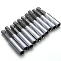 "BI022. 10 Pcs Magnetic Extension Extend Socket Drill Bit Holder 1/4"" Hex Power"