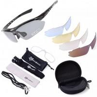 CS010. Kacamata Sepeda, Mancing Hitam/ RockBros Polarized Cycling Sunglasses Bicycle Sport Glasses - BLACK