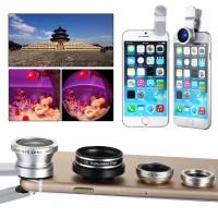 DC587. Lensa Kamera Wide, 4in1 Camera Lens Fish Eye Wide Macro CPL Polarizer For IPhone - Putih