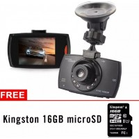 "MA882. Dash Dashboard Cam G30 2.4"" 1080P 120° HD Kamera Mobil W/ Free Kingston 16GB Micro SD Card"