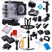 LF556. Kamera SJ4000 HD 1080P 12MP Sport Camcorder Camera, Gratis 2 Battery, Professional Top Kit, Tongsis, Tahan Air