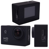 LF557. Kamera Tahan Air SJ4000 1080P 12MP Full HD Sport Action Camera + 3 Battery+ Super Kits - Black