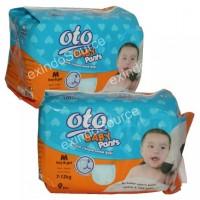 OB-9M. OTO BABY PANTS / POPOK CELANA BAYI - UKURAN M, ISI 9PCS