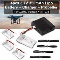 RC219. Battery For CX 6057 RC Helicopter 4in1 USB Charger 4x 3.7V 350mAh Free Baling-Baling