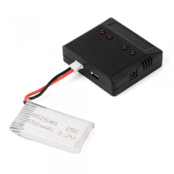 RC222  Battery MJX X200 CX-30 RC Helicopter 4 In1 USB Charger