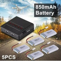 RC476 Lipo Battery 5pcs 3.7V 850mAh + Charger Motor For Cheerson CX-30 CX-31 Drone