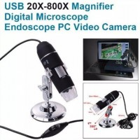 TE071. XCSource 20X-800X 8LED 3D Zoom Digital USB Microscope PC Endoscope Camera/ Mikroskop