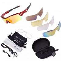 CS008 Kacamata Polarized, Untuk Bersepeda,Olahraga,Pantai (5 Lensa)