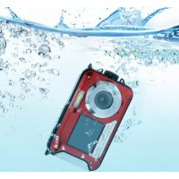 LF747. Kamera Tahan Air 24MP Diving Snorkling Double Screen Underwater Digital Video Camera HD 1080P 3m Waterproof